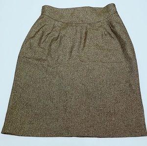 ANN TAYLOR LOFT Gold Metallic Skirt Size 6